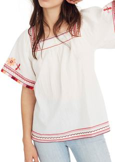 Madewell Embroidered Sandblossom Top