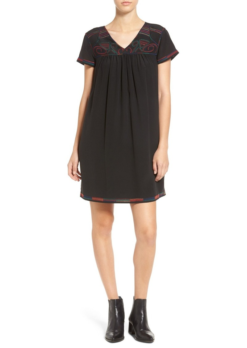 Madewell Embroidered Shift Dress