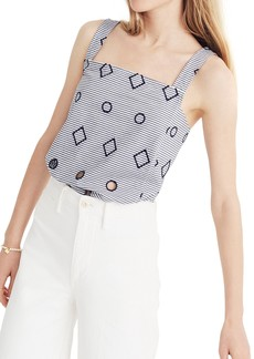 Madewell Embroidered Stripe Apron Tank