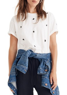 Madewell Embroidered Yin Yang Easy Crop Tee