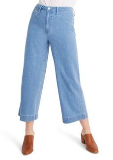 Madewell Emmett Crop Wide Leg Jeans (Langston)