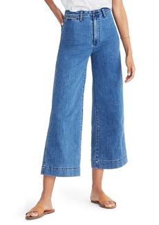 Madewell Emmett Crop Wide Leg Jeans (Rosalie)