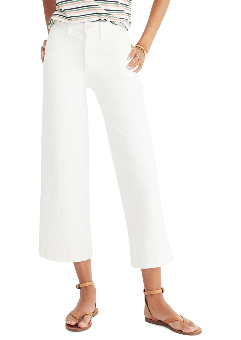 3df554d39afe On Sale today! Madewell Madewell Emmett Crop Wide Leg Jeans (Tile White)