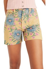 Madewell Emmett Painted Blooms Twill Shorts