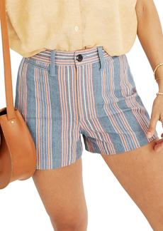 Madewell Emmett Rainbow Stripe Shorts