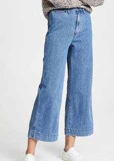 Madewell Emmett Wide Leg Crop Jeans