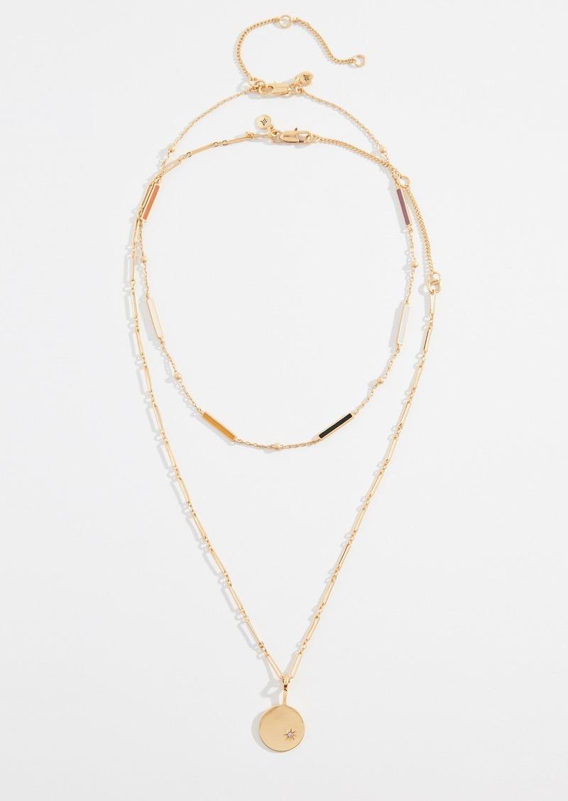 Madewell Enamel Bar Necklace