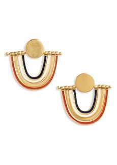 Madewell Enamel Rainbow Earrings