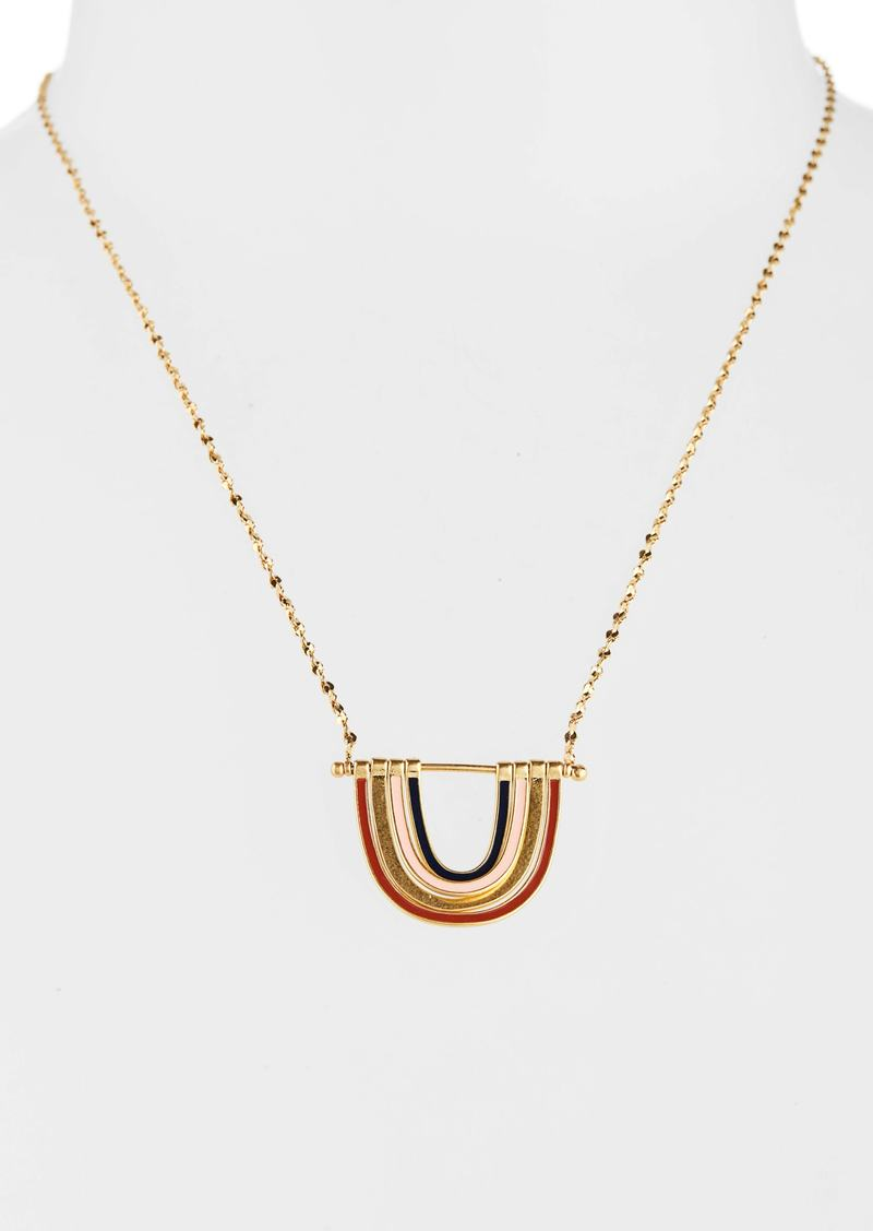 Madewell Enamel Rainbow Necklace