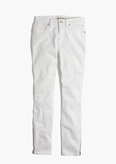 """Madewell et Sézane® 9"""" High-Rise Skinny Jeans in White: Ankle-Zip Edition"""