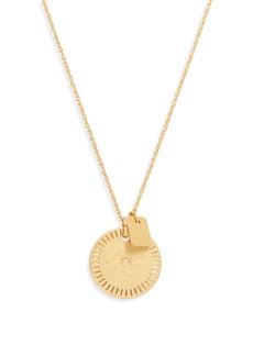 Madewell Etched Coin Necklace