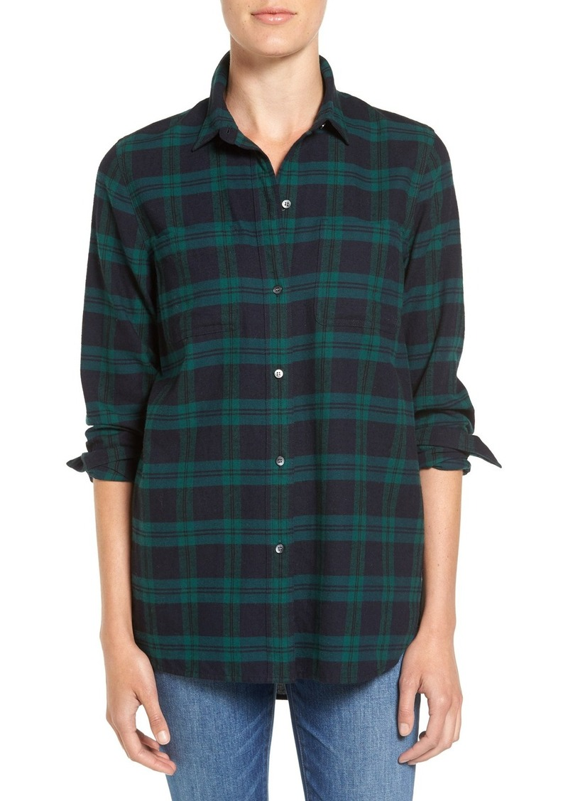 Madewell Ex Boyfriend - Dark Plaid Classic Shirt