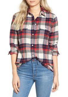 Madewell Ex Boyfriend Plaid Flannel Shirt