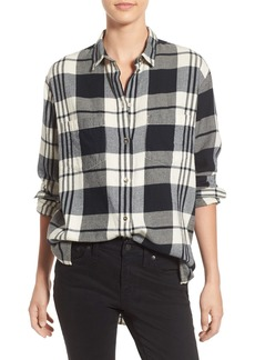 Madewell 'Ex Boyfriend' Plaid Oversize Cotton Shirt