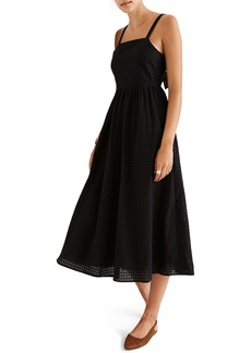 Madewell Eyelet Bow Back Midi Dress