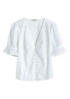 Madewell Eyelet Daylight Top