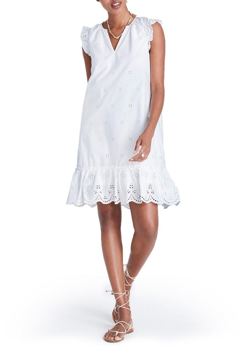 57e0716b2b Madewell Madewell Eyelet Garden Dress