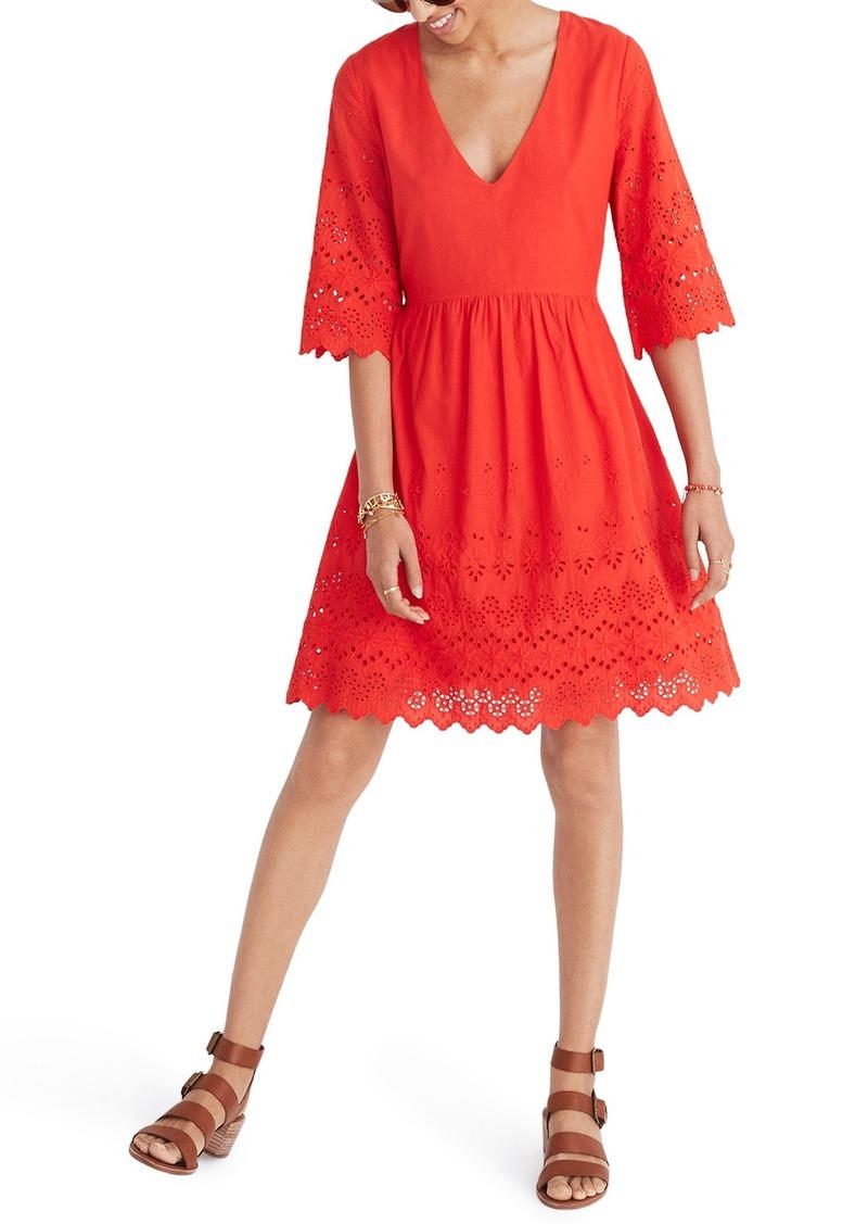 3f646d7c20f5 Madewell Madewell Eyelet Lattice Dress