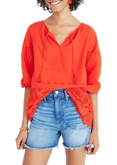 Madewell Eyelet Lattice Top
