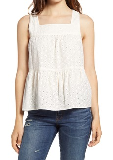 Madewell Eyelet Tiered Tank
