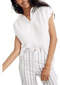 Madewell Eyelet White Central Popover Shirt