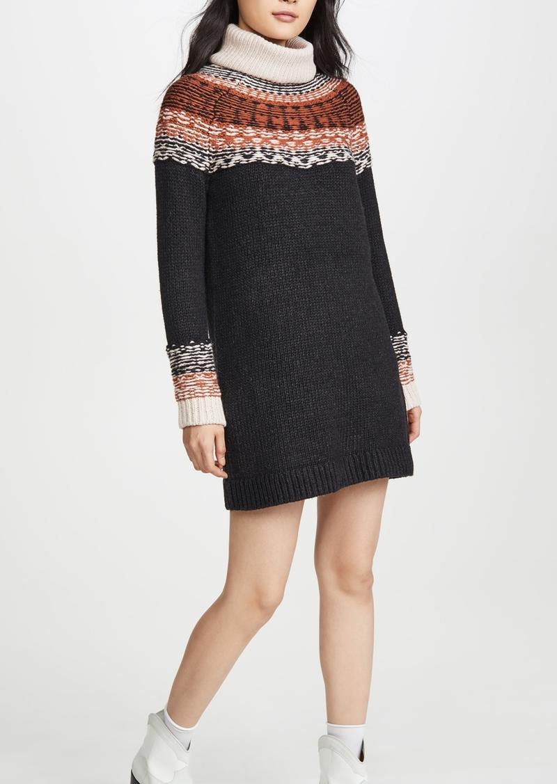 Madewell Fair Isle Turtleneck Sweater Dress