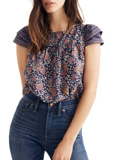 Madewell Fan Floral Mix Story Top