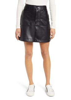 Madewell Faux Leather A-Line Mini Skirt