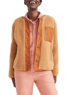 Madewell Faux Shearling Chestnut Jacket