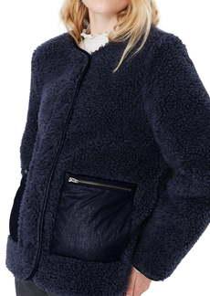 Madewell Faux Shearling Snap Jacket