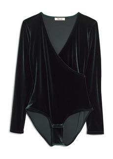 Madewell Faux Wrap Velvet Bodysuit