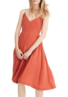 Madewell Fern Silk Faux Wrap Dress