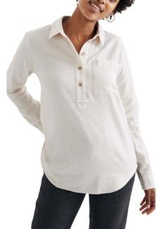 Madewell Flannel Classic Ex-Boyfriend Popover Shirt