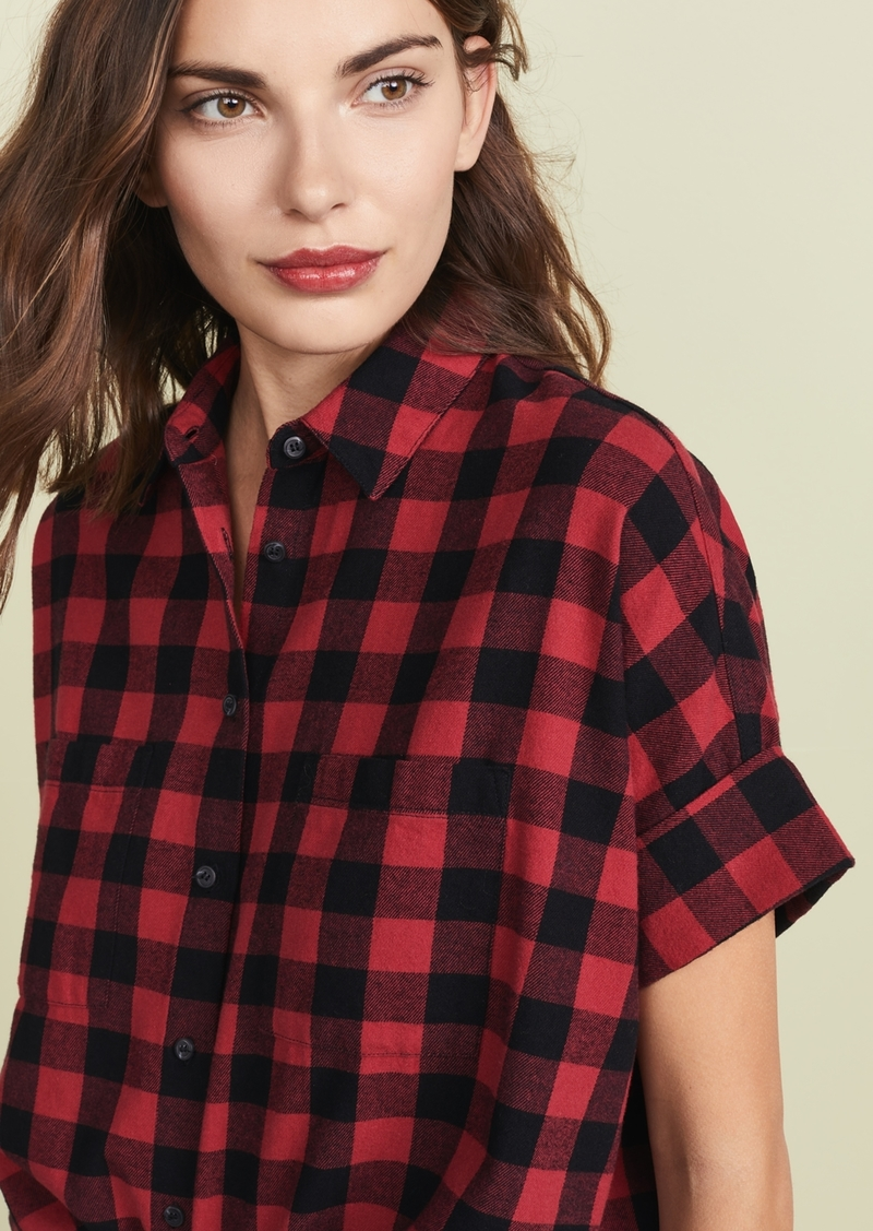 245757f9 Madewell Madewell Flannel Courier Button Down Shirt | Casual Shirts
