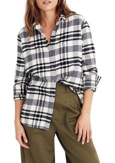 Madewell Flannel Ex-Boyfriend Plaid Shirt