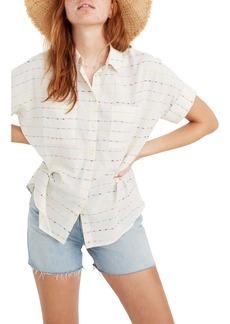 Madewell Flecked Rainbow Stripe Courier Shirt