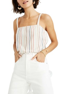 Madewell Flecked Rainbow Stripe Side Button Camisole