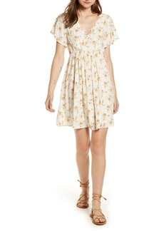 Madewell Floral Loop Trim Minidress