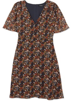 Madewell Floral-print Chiffon Mini Dress