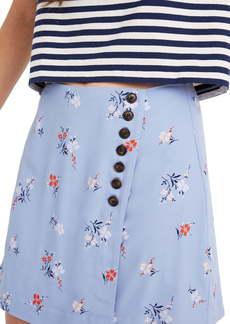 Madewell Floral Side Button Miniskirt