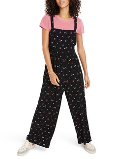 Madewell Flower Toss Smocked Crop Jumpsuit