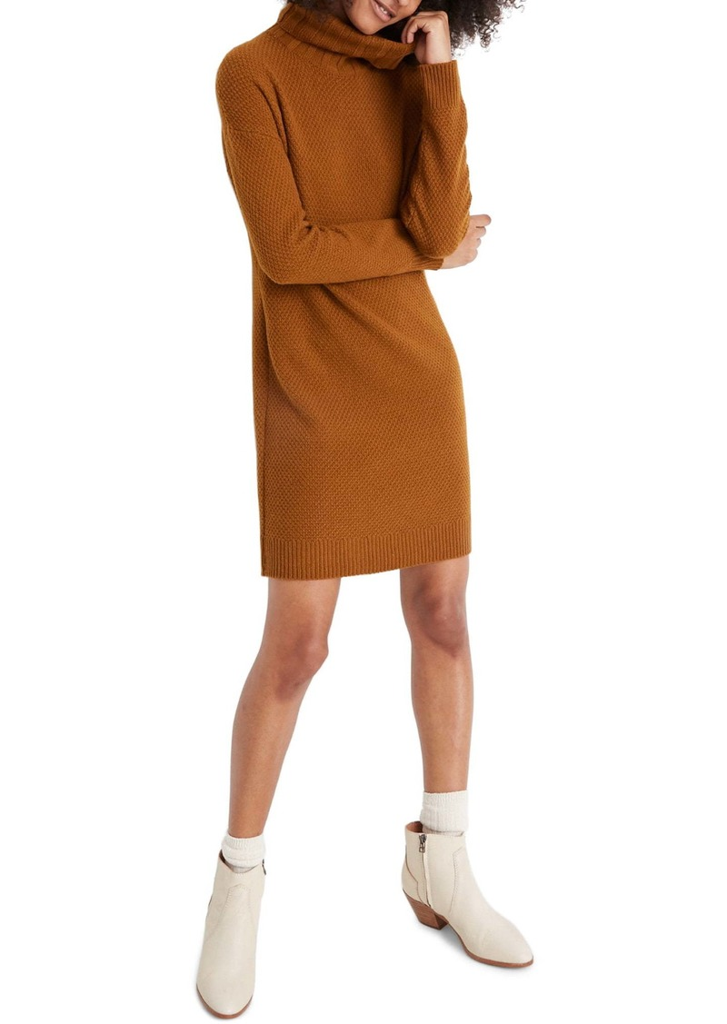 Madewell Foldover Turtleneck Long Sleeve Sweater Dress