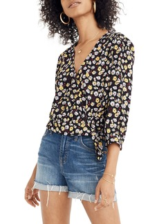 Madewell French Floral Wrap Top