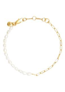 Madewell Freshwater Pearl Chain Bracelet