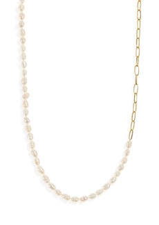 Madewell Freshwater Pearl Chain Necklace