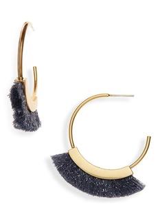 Madewell Fringe Hoop Earrings