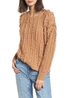 Madewell Fringe Stripe Pullover Sweater