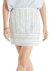 Madewell Gamine Stripe Miniskirt