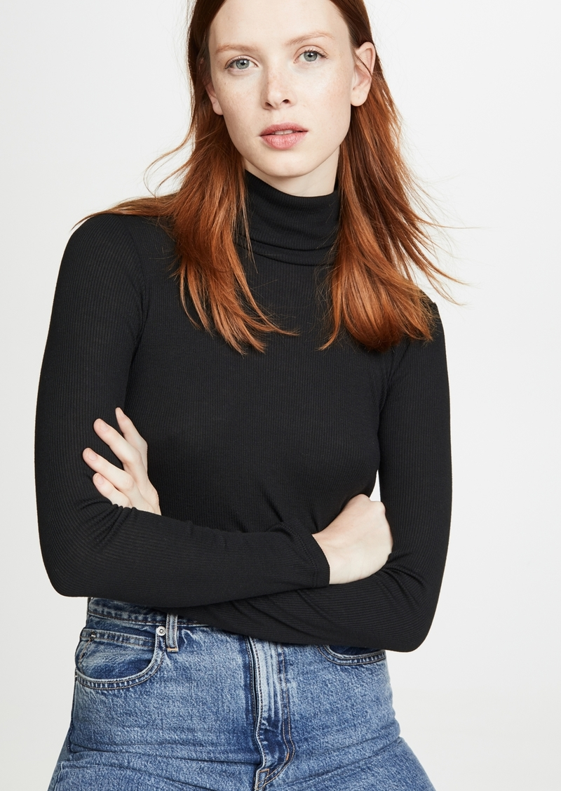 Madewell Fine Ribbed Turtleneck