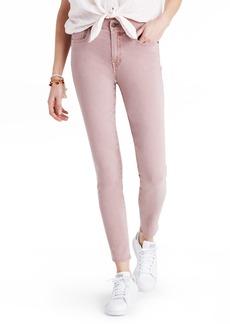 Madewell Garment Dye High Waist Crop Skinny Jeans (Mauve Shadow)